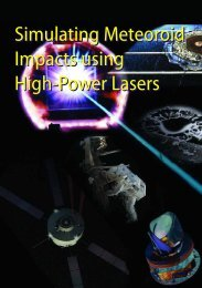 Simulating Meteoroid Impacts using High-Power Lasers ... - ESA