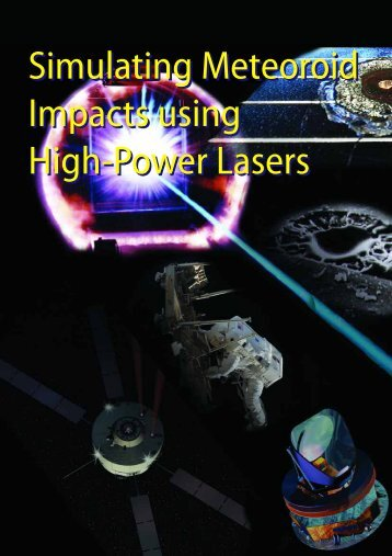 Simulating Meteoroid Impacts using High-Power Lasers ... - ESA