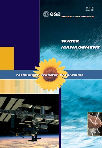Space technology for water management - ESA