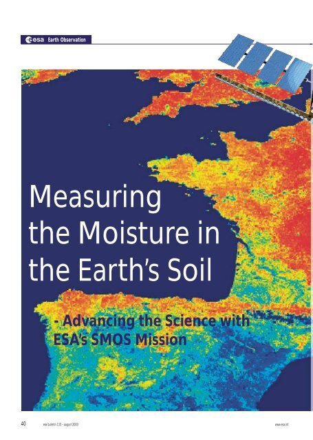 Measuring the Moisture in the Earth's Soil - Cesbio
