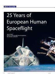 25 Years of European Human Spaceflight - ESA