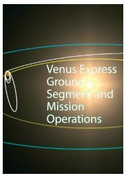 Venus Express Ground Segment and Mission Operations ... - ESA