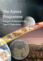 The Aurora Programme – Europe's Framework for Space - ESA