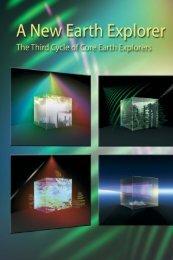 A New Earth Explorer – The Third Cycle of - ESA