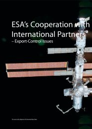 ESA's Cooperation with International Partners - Export Control Issues