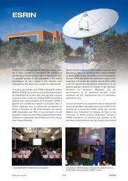 L'ESRIN est le centre principal de l'ESA pour l'observation de la ...