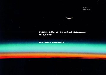 ELIPS: Life & Physical Sciences in Space - ESA