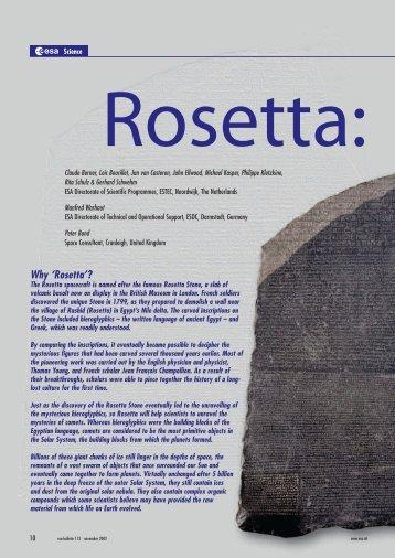 Why 'Rosetta'? - ESA