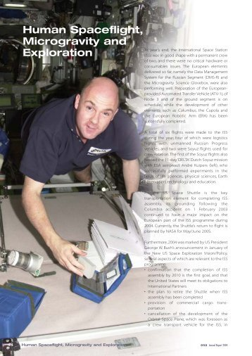Human Spaceflight, Microgravity and Exploration - ESA