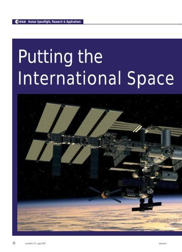 putting the international space station to work - ESA