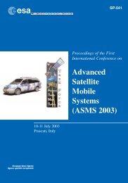 SP-541 - ASMS - Advanced Satellite Mobile Systems - ESA