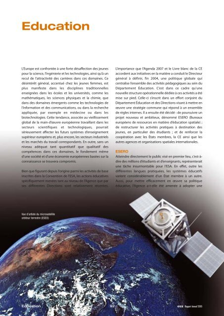 Éducation - ESA