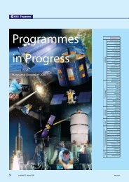 Programmes in Progress - ESA