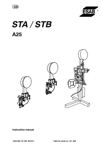 ESAB 250-35000 AHMA Positioners for lifting, rotating