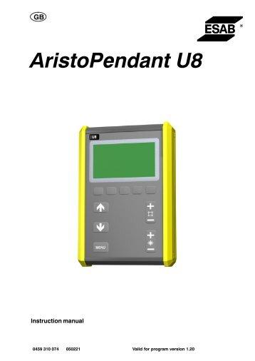 Aristo Pendant U82 (Ver 1.20) - ESAB
