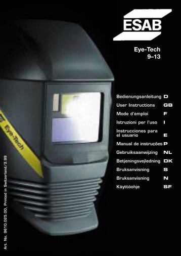 Eye-Tech 9–13 - ESAB