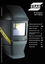 10-12 Select 10/11 Mono - ESAB