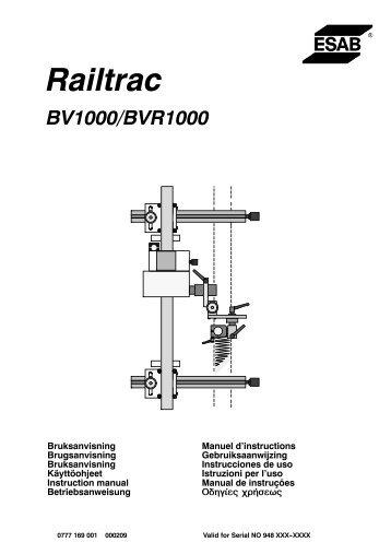 Railtrac BV1000, BVR 1000 - ESAB