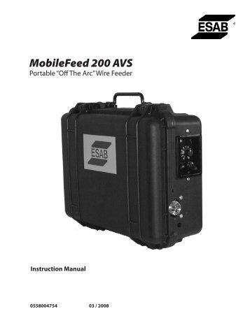 MobileFeed 200 AVS - ESAB