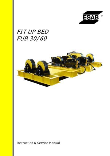 FIT UP BED FUB 30/60 - ESAB
