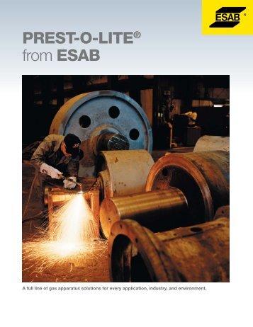 prest-o-lite - ESAB Welding & Cutting Products
