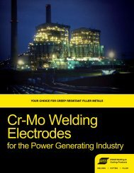 Cr-Mo Welding Electrodes - ESAB Welding & Cutting Products