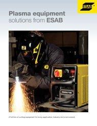 Plasma equipment solutions from EsAB - ESAB Welding & Cutting ...