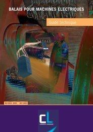 BALAIS POUR MACHINES ÉLECTRIQUES Guide technique