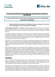 El Grupo Villar Mir invertirá 2.900 millones de euros en tres ... - Esade