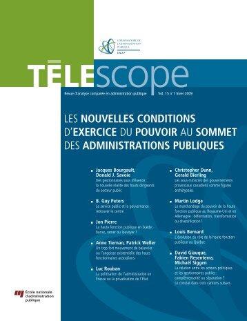 les nouvelles conditions d'exercice du pouvoir au ... - Télescope