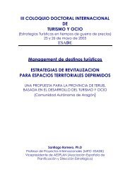 III COLOQUIO DOCTORAL INTERNACIONAL DE TURISMO ... - Esade