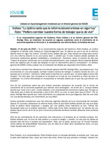 nota de prensa completa - Esade
