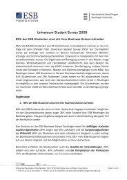 Universum Student Survey 2009 - ESB Business School