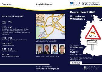 Deutschland 2020 - ESB Business School
