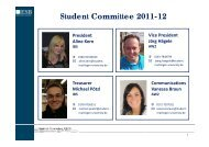 Student Committee 2011-12 - ESB Business School