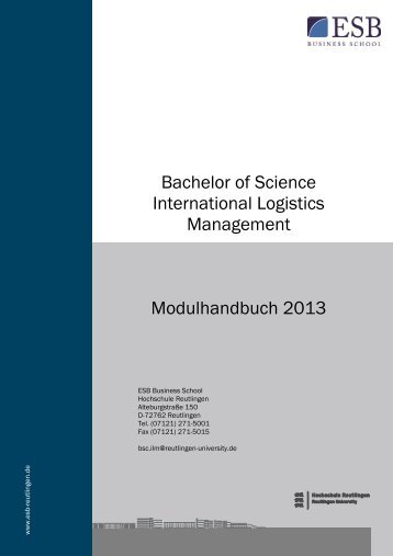 neues Modulhandbuch (2013) - ESB Business School