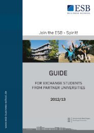 Guide for exchange students - ESB Business School
