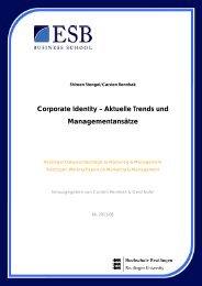 Corporate Identity – Aktuelle Trends und Managementansätze