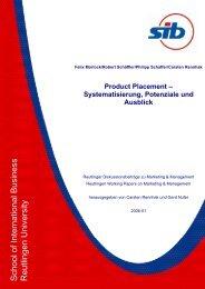Product Placement - Systematisierung, Potenziale und Ausblick