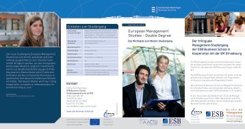 Flyer - ESB Business School