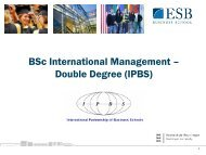 IPBS Studieninfotag - ESB Business School