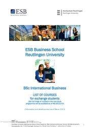 ESB Business School Reutlingen University