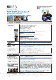 Fact Sheet 2012-2013 - ESB Business School