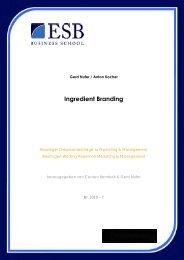 Ingredient Branding - ESB Business School