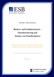 Marken- und Produktrelaunch - ESB Business School