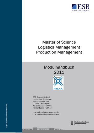 Modulhandbuch - ESB Business School
