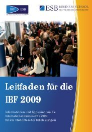 IBF 2009 - International Business Fair- ESB Business School