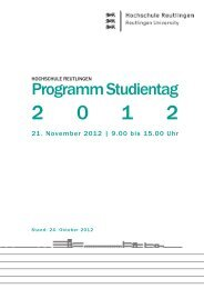 Programm Studientag - ESB Business School