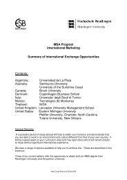 MBA Program International Marketing Summary of International ...