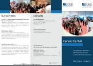 Career Center - ESB Business School